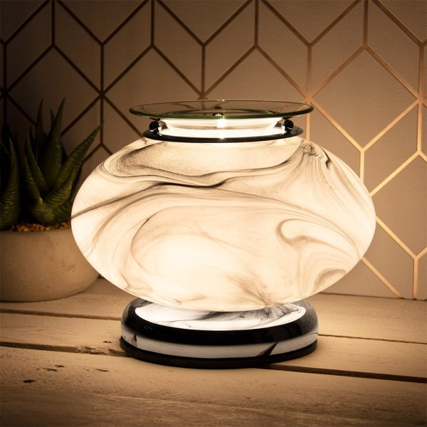 DESIRE AROMA LAMP GREY MARBLE
