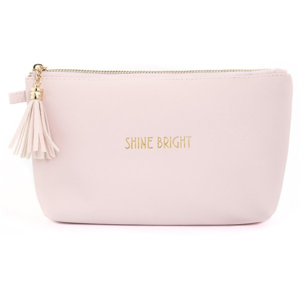 SHINE BRIGHT COSMETIC BAG PINK