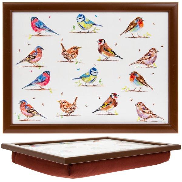 COUNTRY LIFE BIRDS LAPTRAY