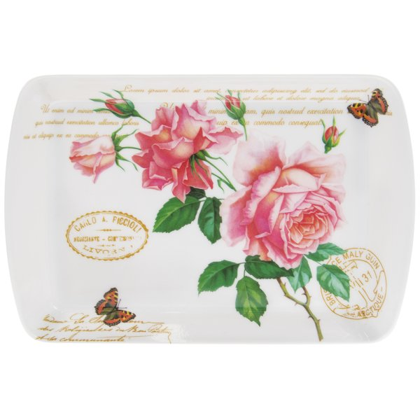 REDOUTE ROSE TRAY SML