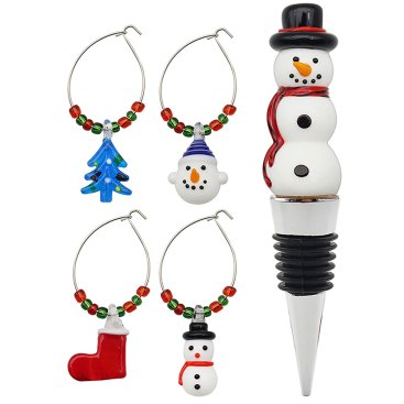 CHRISTMAS WINE, CHARMS, LAMPS