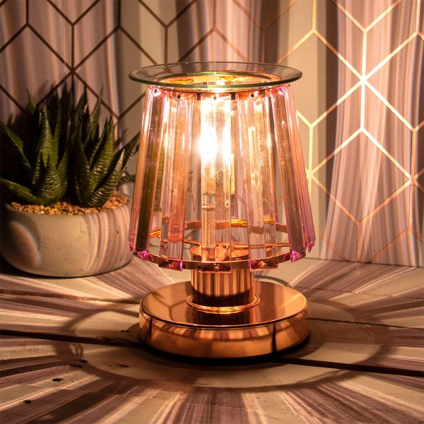 AROMA LAMP RSEGLD PINK CRYSTAL