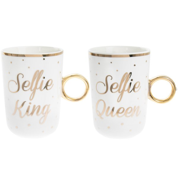 SELFIE KING QUEEN MUGS S2