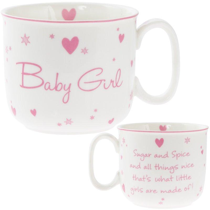 NEW BABY GIRL HANDLED MUG