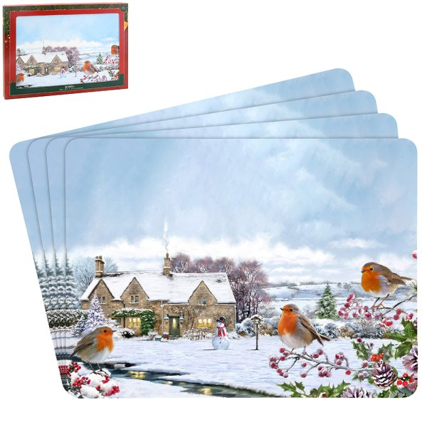 ROBINS PLACEMATS SET OF 4