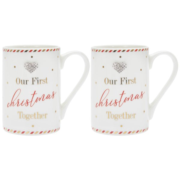 MAD DOTS 1ST XMAS MUGS SET 2