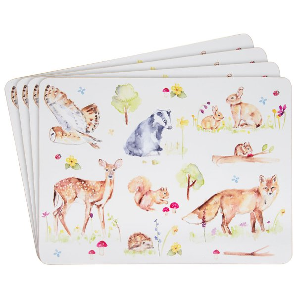 WOODLAND WILDLIFE PLACEMATS S4