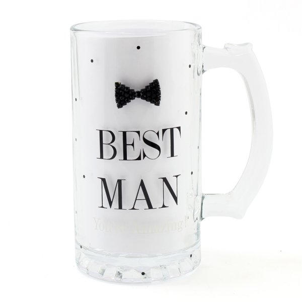 MAD DOTS BLK TIE B/MAN TANKARD