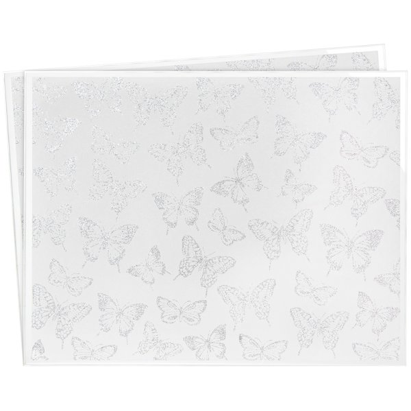 B'FLY SILV GLITTER PLACEMAT S2
