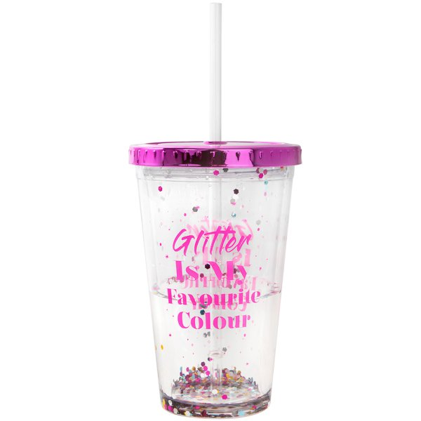 GLITTER IS MY FAV COL CUP W/ST