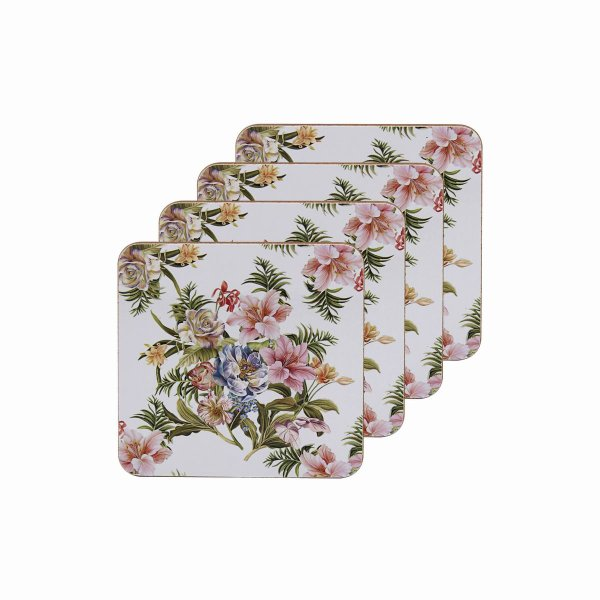 LILY ROSE COASTERS SET OF 4