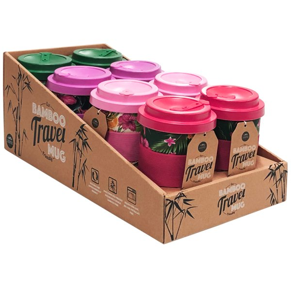 BAMBOO TROPICAL TRAVEL MUG 4AS