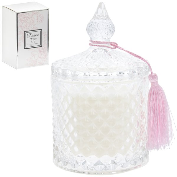 WHITE LILY CANDLE JAR
