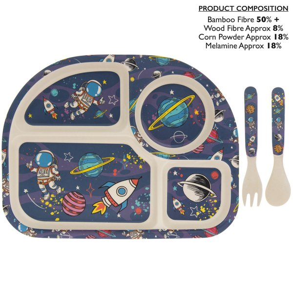 SPACE BAMBOO EATING SET