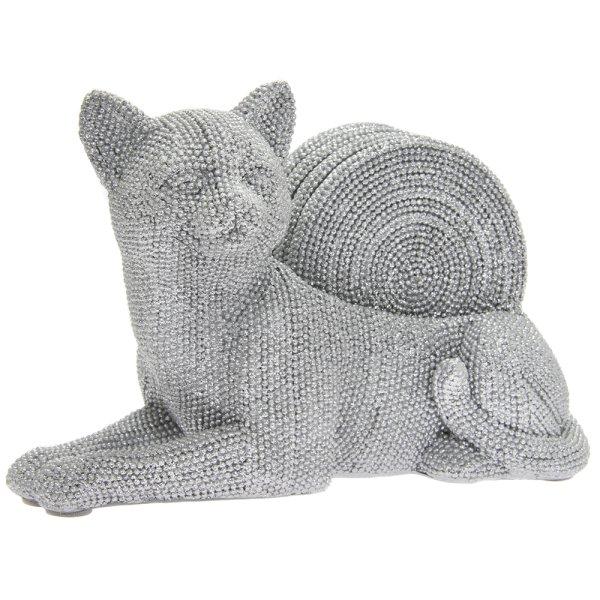 SILVER ART CAT COASTER