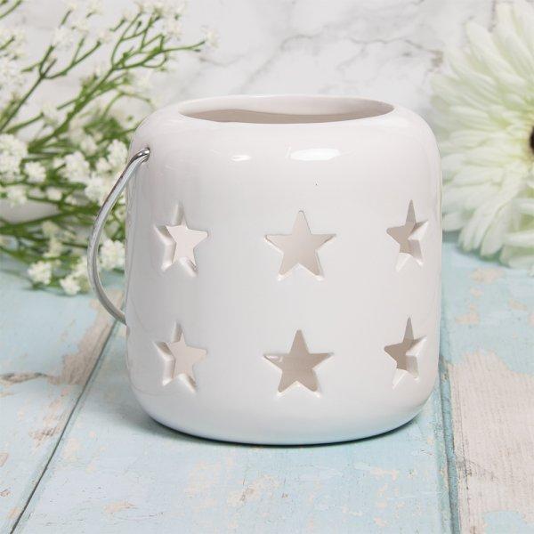 STARS LANTERN WHITE 10CM