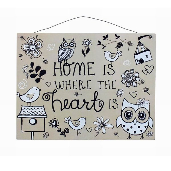 HOME IS WHERE THE HEART PLQ