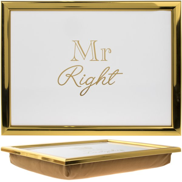 GOLD MR RIGHT LAPTRAY