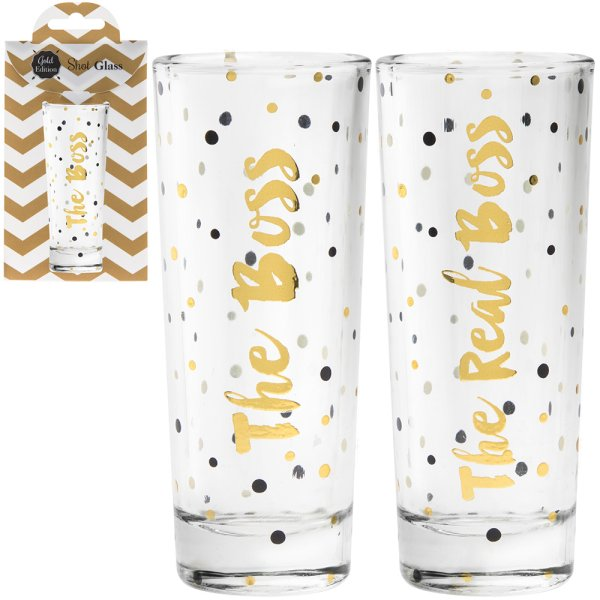 SHOT GLASSES 2SET BOSS&REAL 2S