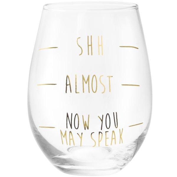 GOLD SHH...STEMLESS GLASS