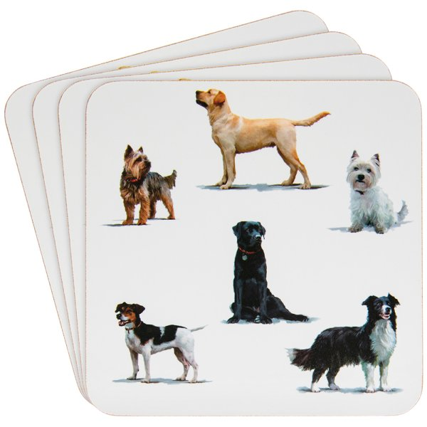 DOGS COASTERS SET OF 4