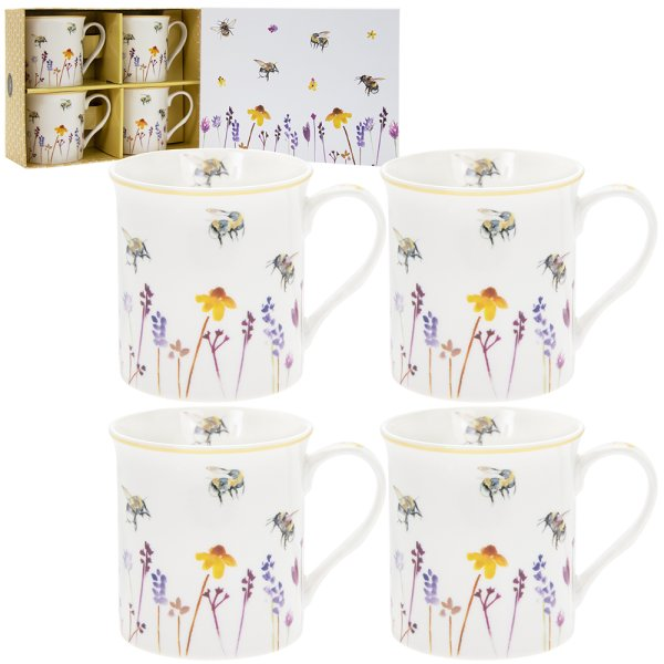 BUSY BEES MUGS SET OF 4
