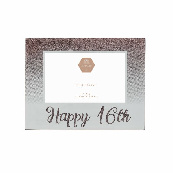 HAPPY 16TH ROSE GOLD FRAME 4X6