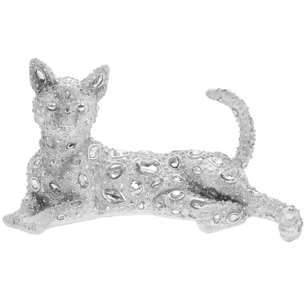SILVER ART DIAMANTE CAT