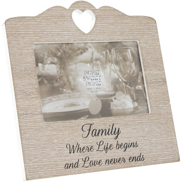 SENTIMENTS HEART FRAME FAMILY