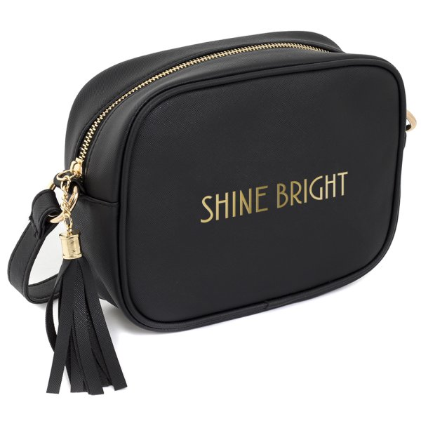 SHINE BRIGHT SHOULDER BAG BLK