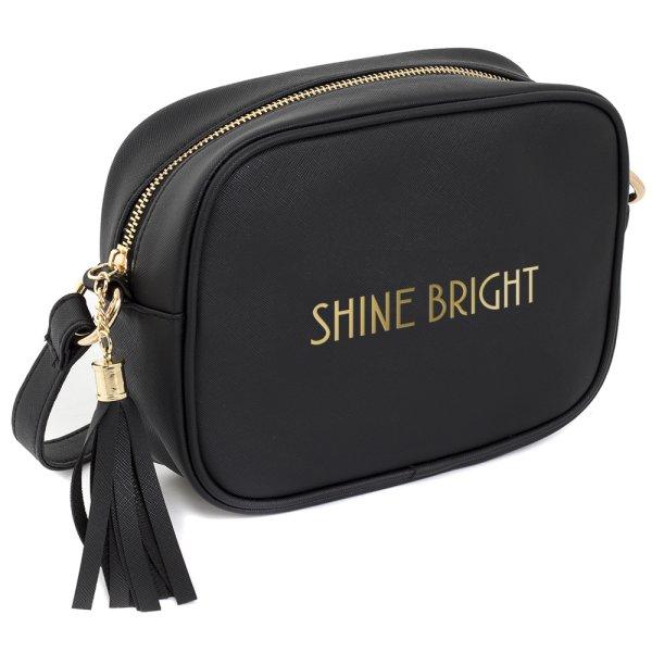 SHINE BRIGHT SHOULDER BAG BLK