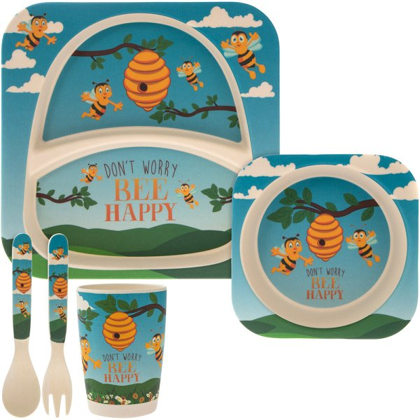 BAMBOO ECO EATING SET BEE