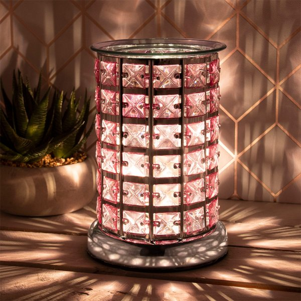 DESIRE AROMA LAMP SILVER&PINK
