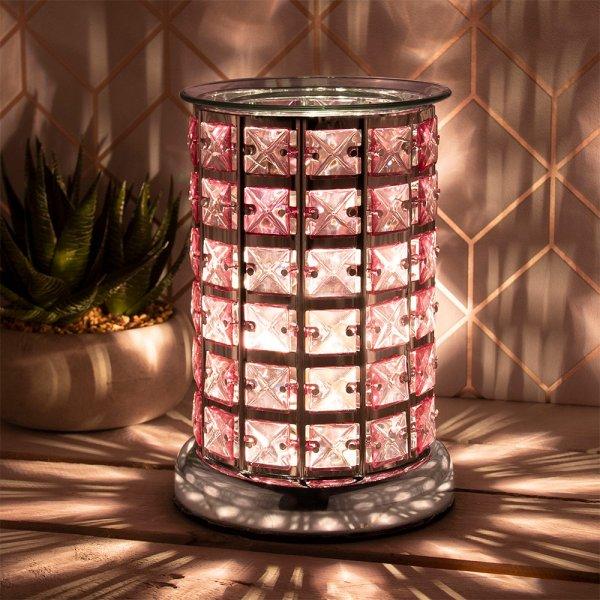 DESIRE AROMA LAMP SILVER&PINK