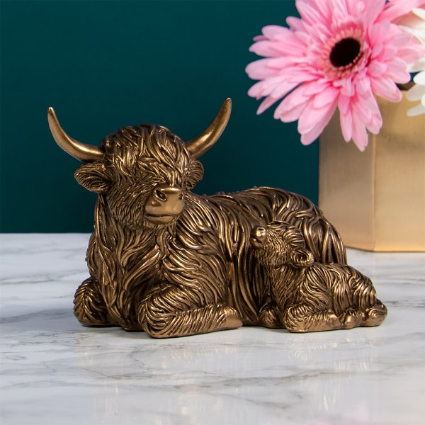 REFLECTIONS BRONZED COW&BABY S