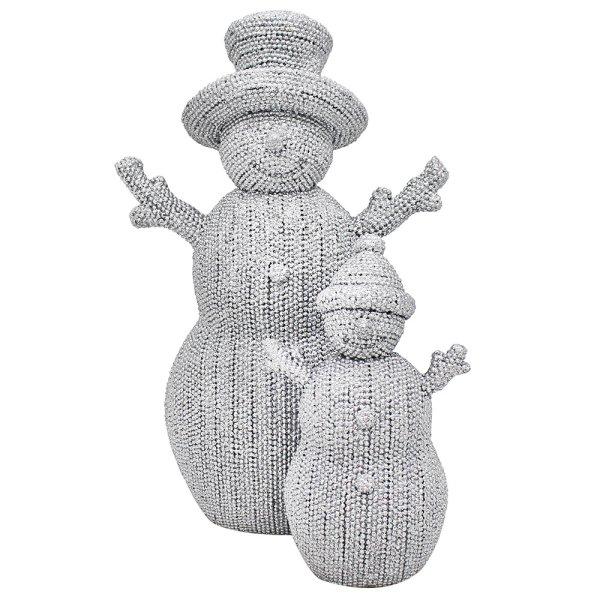 "SILVER ART SNOWMAN DAD&KID 8"""