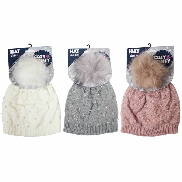COZY PEARL HAT 3 ASS