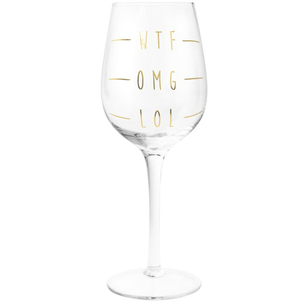WINE GLASS WTF OMG LOL