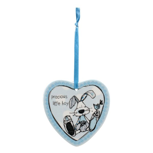LITTLE MIRACLES BLUE HEART PLQ