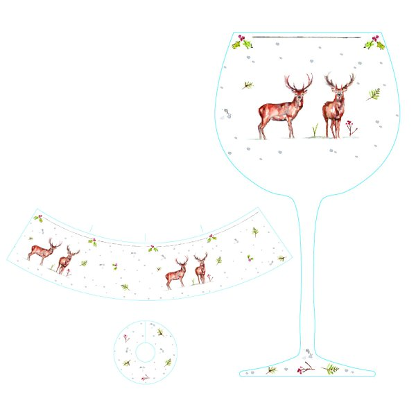 WINTER STAG GIN GLASS
