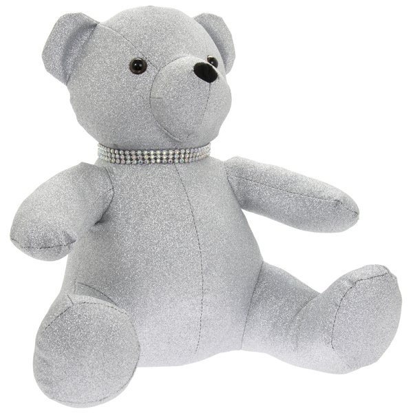 SILVER BLING TEDDY BEAR DOORST