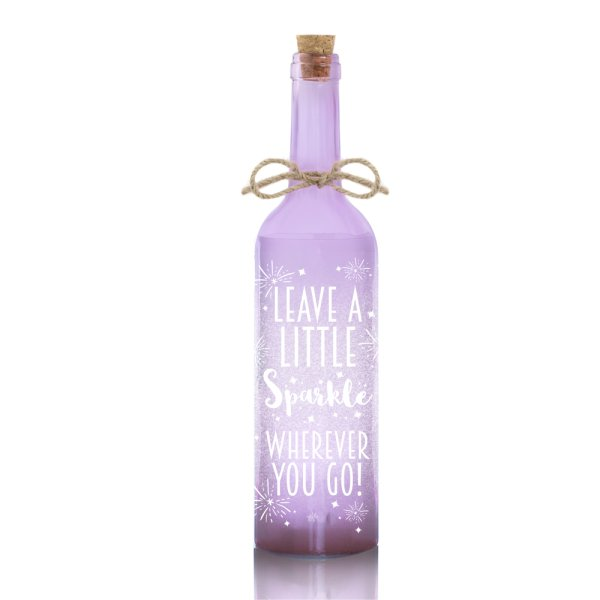 LED BOTTLE PURPLE SPARKLE