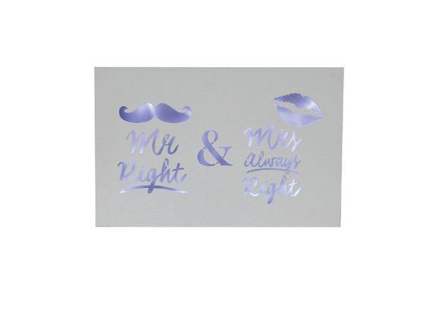 MR & MRS ALWAYS RIGHT LED PLAQ