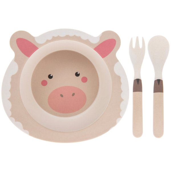 BAMBOO ECO EATING SET SHEEP