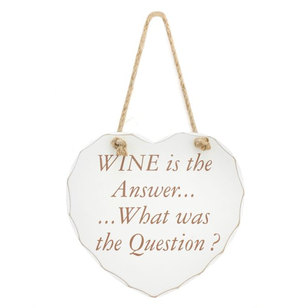 WINE IS THE ANSWER PLAQUE