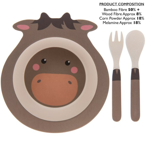BAMBOO ECO EATING SET PONY