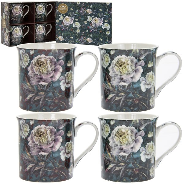 CHRYSANTHEMUM MUGS S4