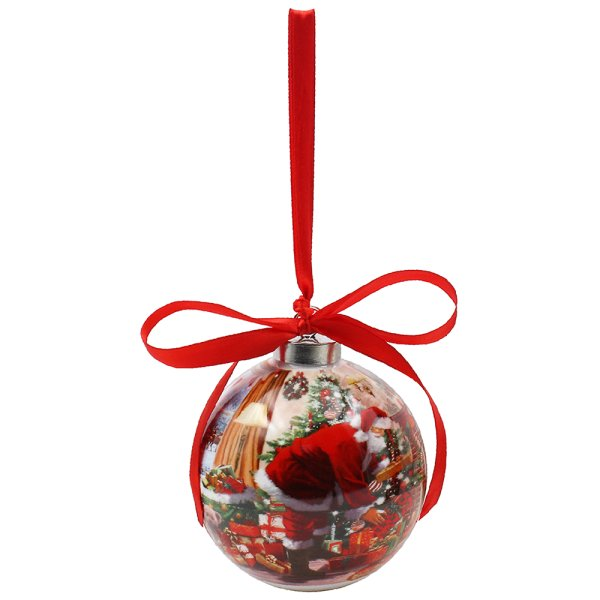 SANTA CERAMIC BAUBLE