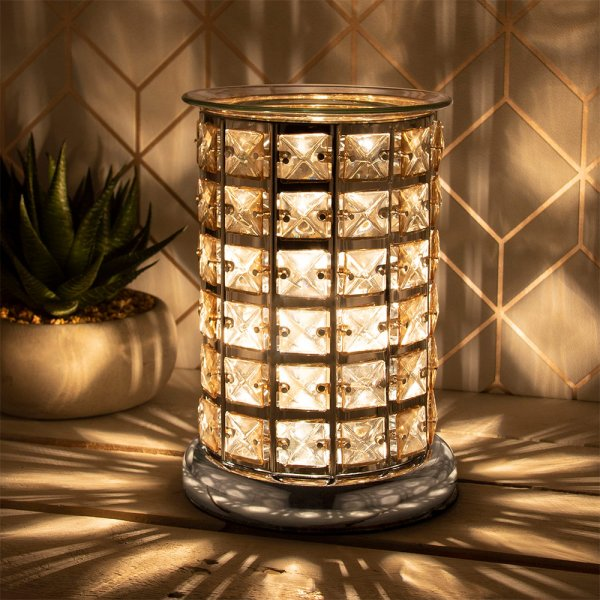 DESIRE AROMA LAMP SILVER&AMBER