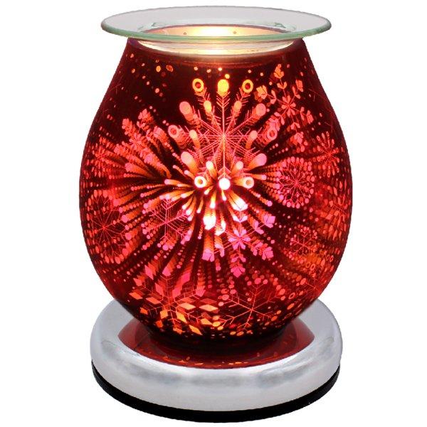AROMA LAMP SNOWFLAKE RED